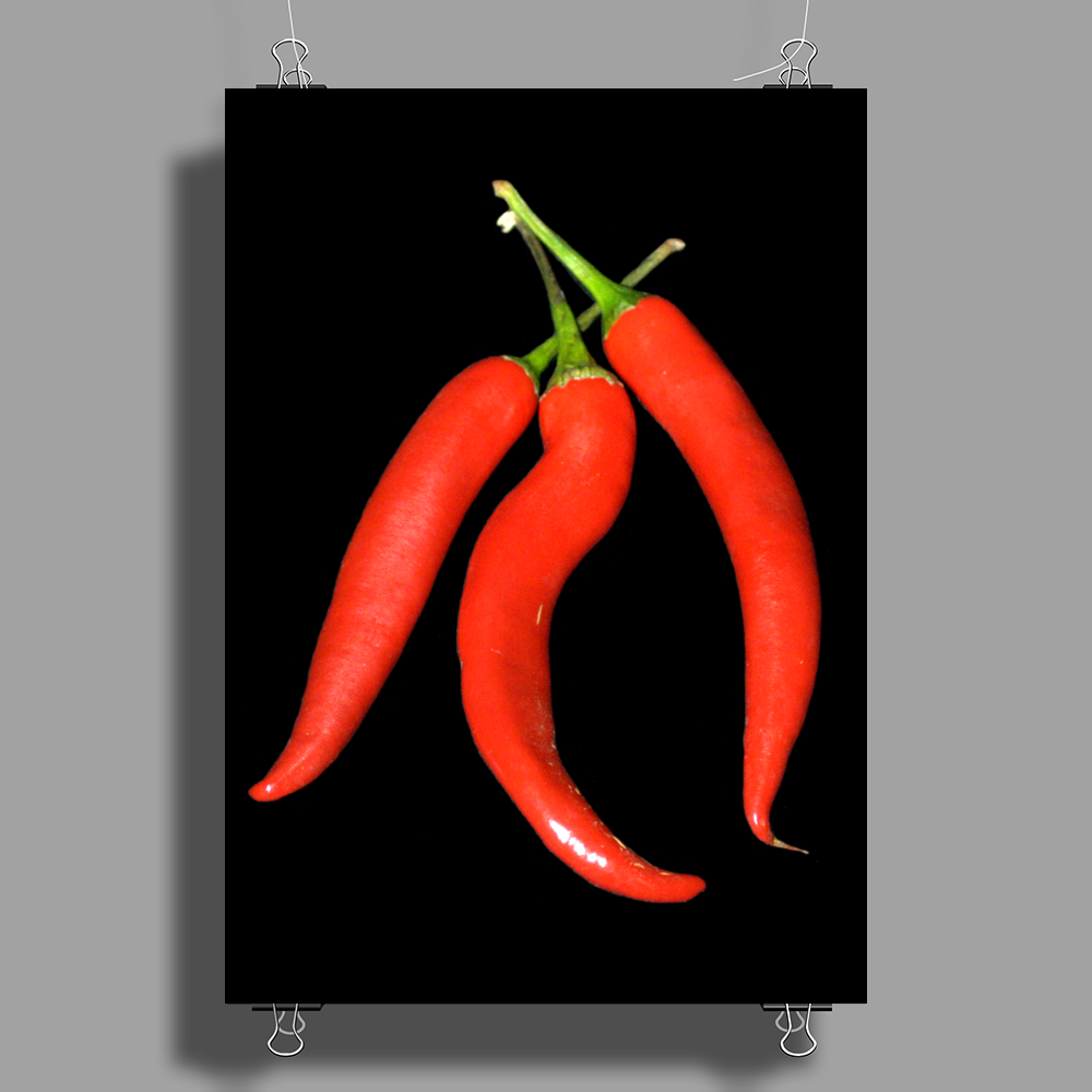 red chili peppers Poster Print (Portrait)