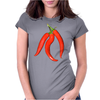 red chili peppers Womens Fitted T-Shirt