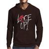 Red Circle Lace Up Mens Hoodie