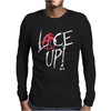 Red Circle Lace Up Mens Long Sleeve T-Shirt