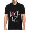 Red Circle Lace Up Mens Polo