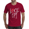 Red Circle Lace Up Mens T-Shirt