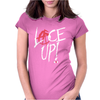 Red Circle Lace Up Womens Fitted T-Shirt