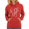 Red Circle Lace Up Womens Hoodie