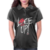 Red Circle Lace Up Womens Polo