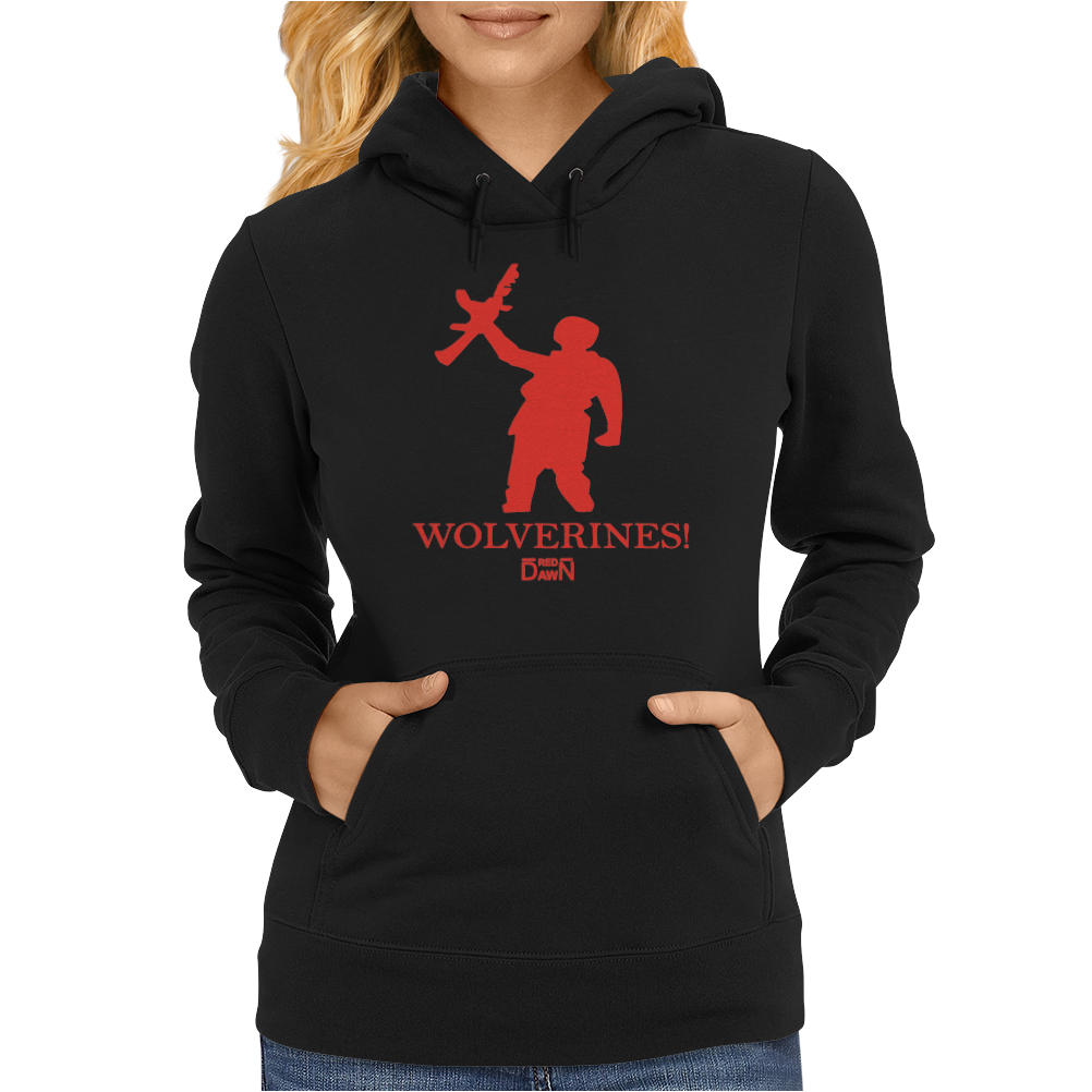 Red Dawn Retro Movie Womens Hoodie