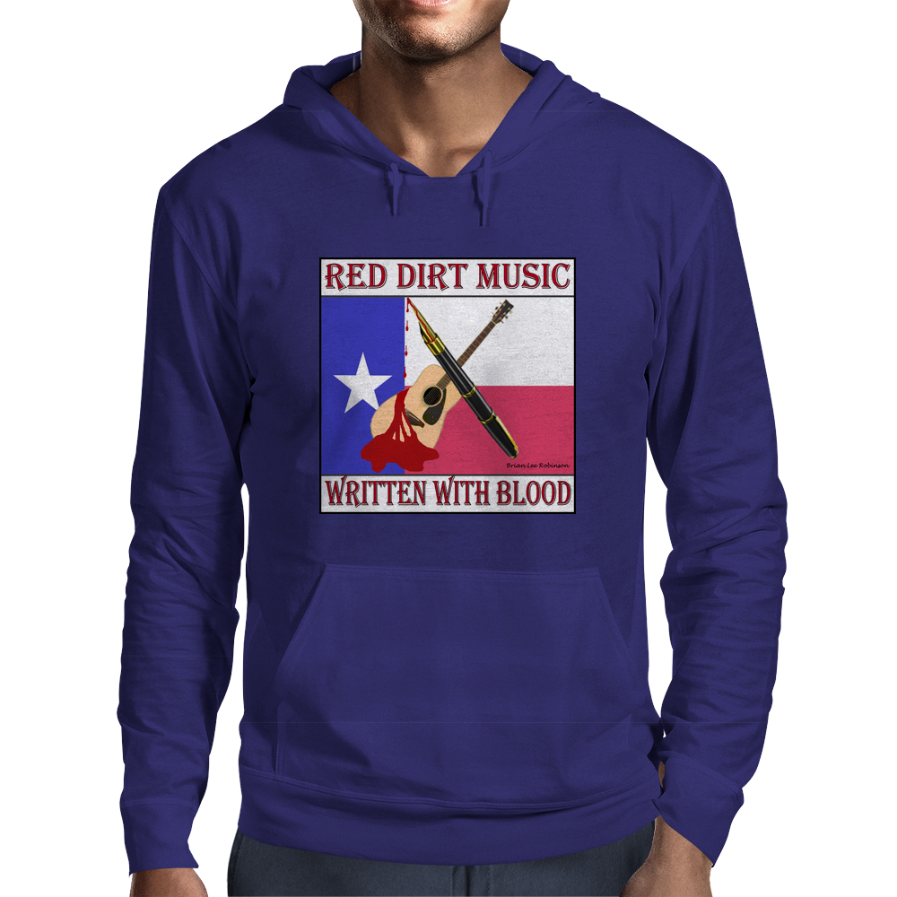 Red Dirt Music- Written With Blood Mens Hoodie