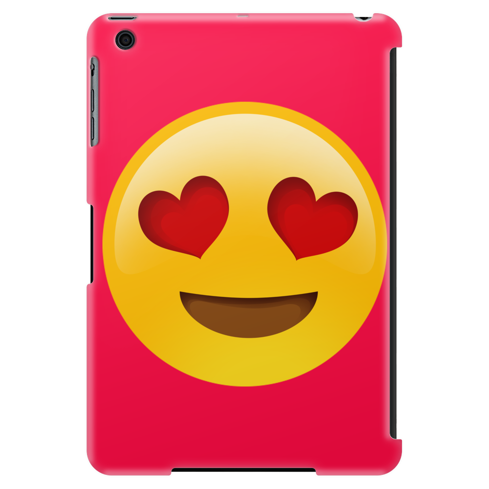 Red Emoji Heart Face Case Tablet (vertical)