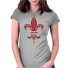 Red Fleur De Lis Womens Fitted T-Shirt