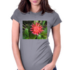 Red Flower Womens Fitted T-Shirt