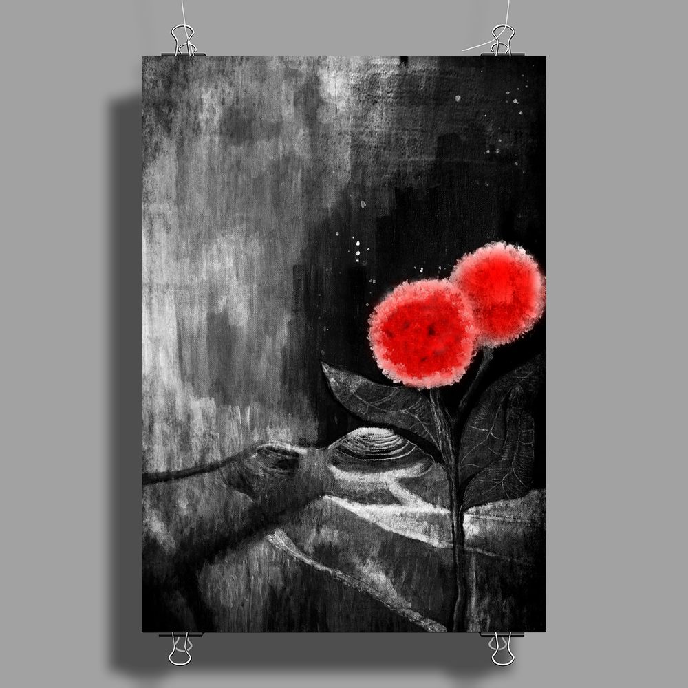 Red Flowers Poster Print (Portrait)