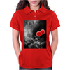 Red Flowers Womens Polo