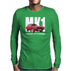 Red Ford Capri MK1 Classic Car Mens Long Sleeve T-Shirt