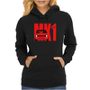 Red Ford Escort MK1 Classic Car Womens Hoodie