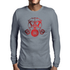 Red Gas Mask Mens Long Sleeve T-Shirt