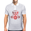 Red Gas Mask Mens Polo
