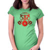 Red Gas Mask Womens Fitted T-Shirt