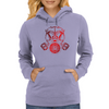Red Gas Mask Womens Hoodie