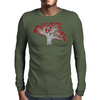Red Heart Tree Mens Long Sleeve T-Shirt