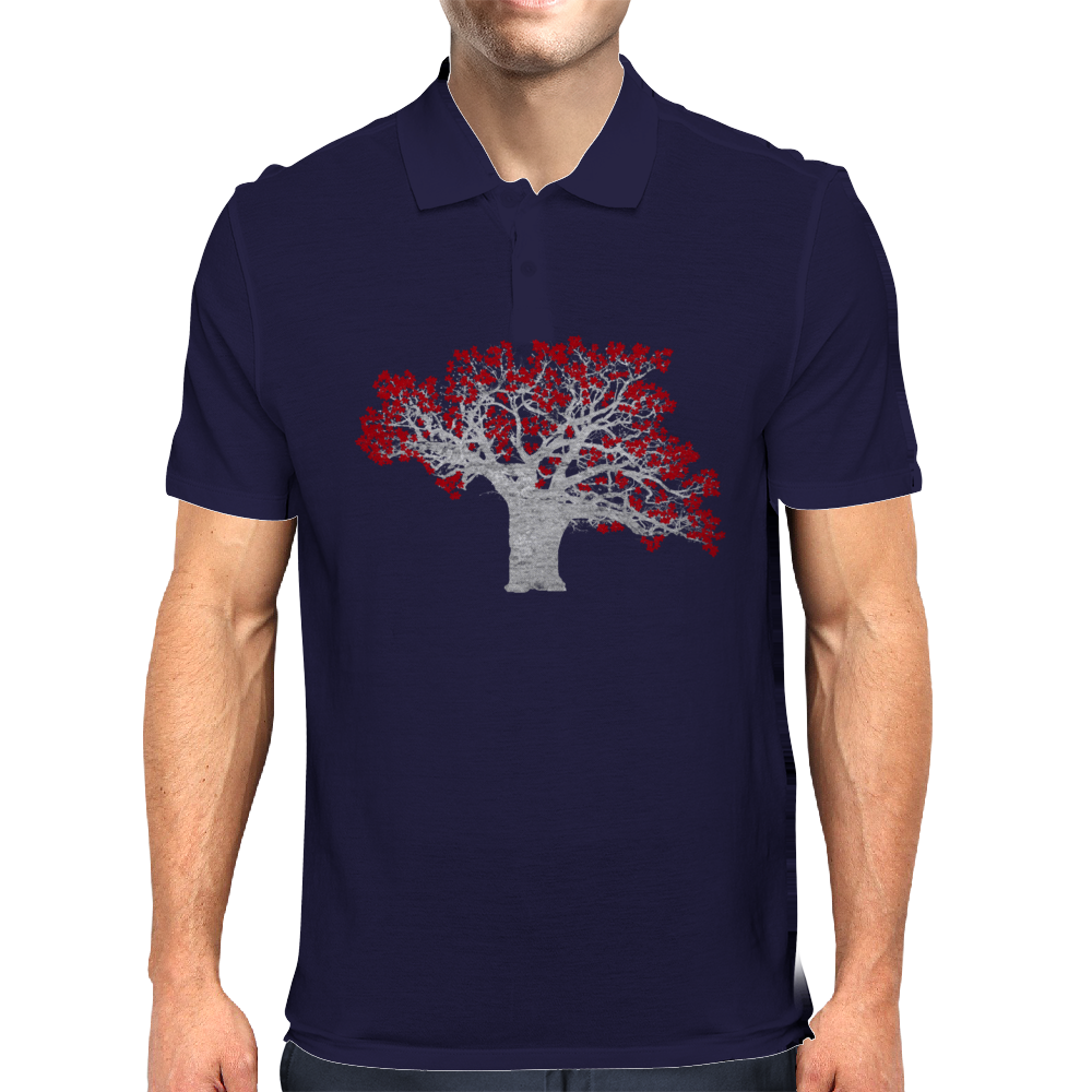 Red Heart Tree Mens Polo