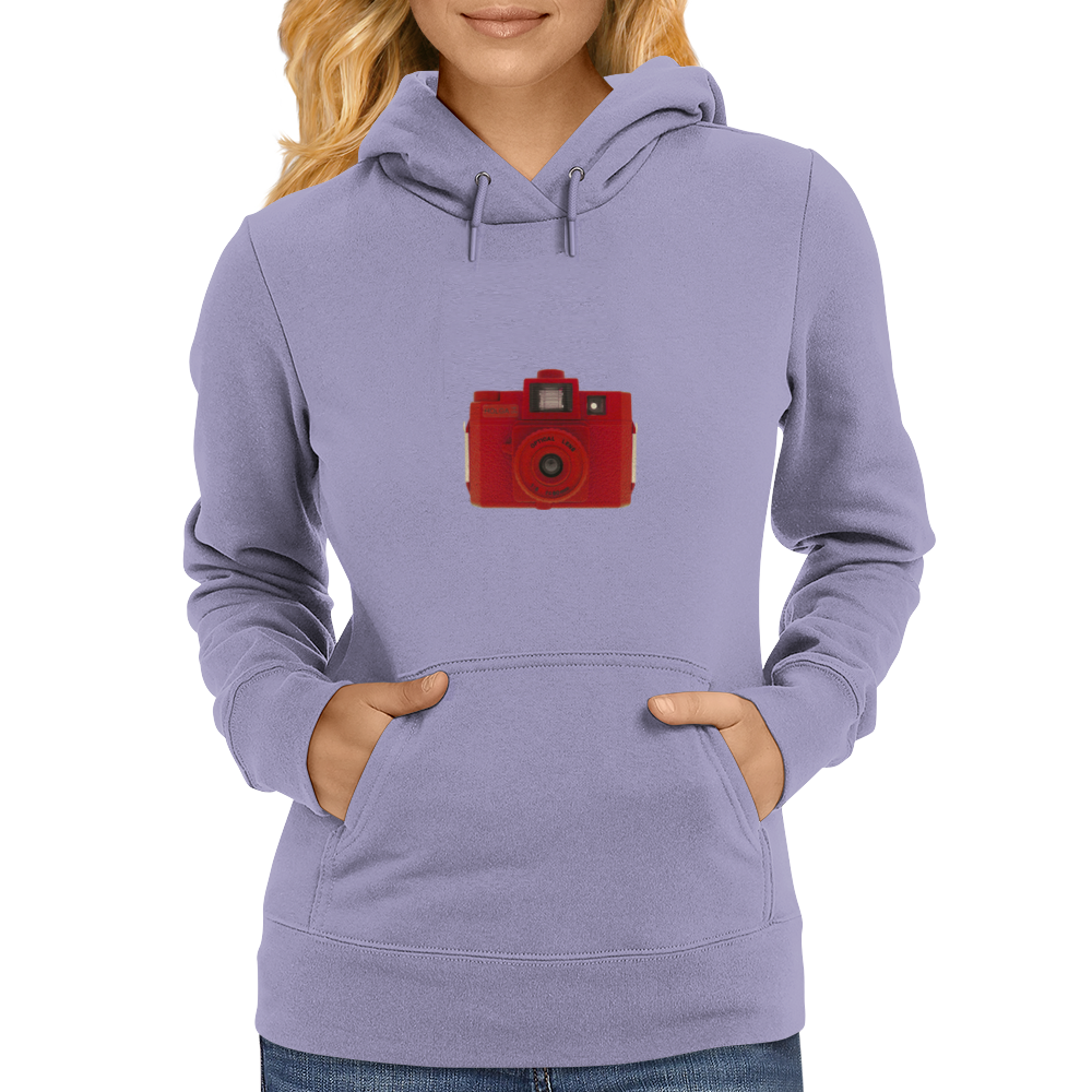 Red Holga Camera Womens Hoodie