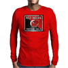 Red Indian Gasoline vintage sign. Rust version. Mens Long Sleeve T-Shirt