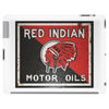Red Indian Gasoline vintage sign. Rust version. Tablet