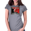 Red Indian Gasoline vintage sign. Rust version. Womens Fitted T-Shirt