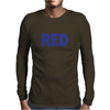Red is Red. Mens Long Sleeve T-Shirt