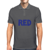 Red is Red. Mens Polo