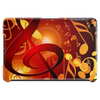Red, orange, music note pattern Tablet