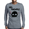Red Pineapple Mens Long Sleeve T-Shirt