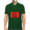 Red poppy Mens Polo