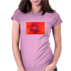 Red poppy Womens Fitted T-Shirt