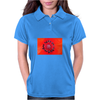 Red poppy Womens Polo