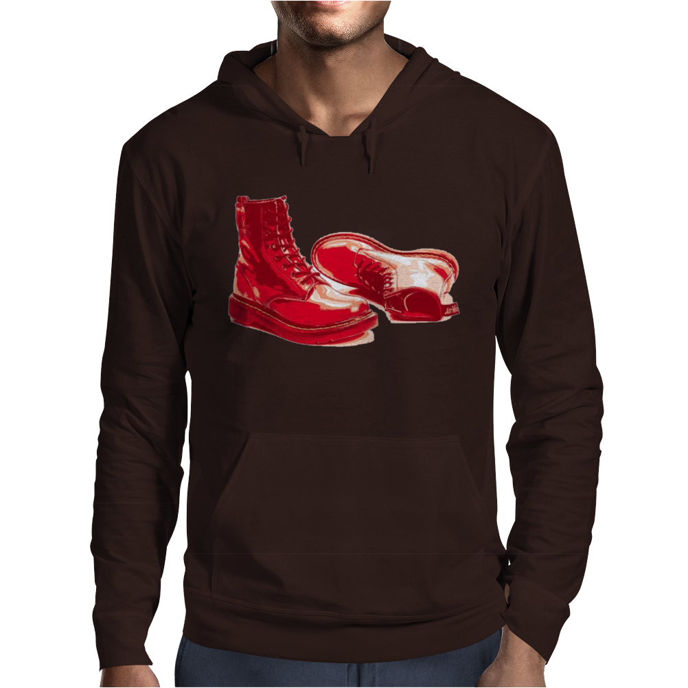 Red Skinhead Bovver Boots Ideal Birthday Gift or Present Mens Hoodie
