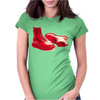 Red Skinhead Bovver Boots Ideal Birthday Gift or Present Womens Fitted T-Shirt