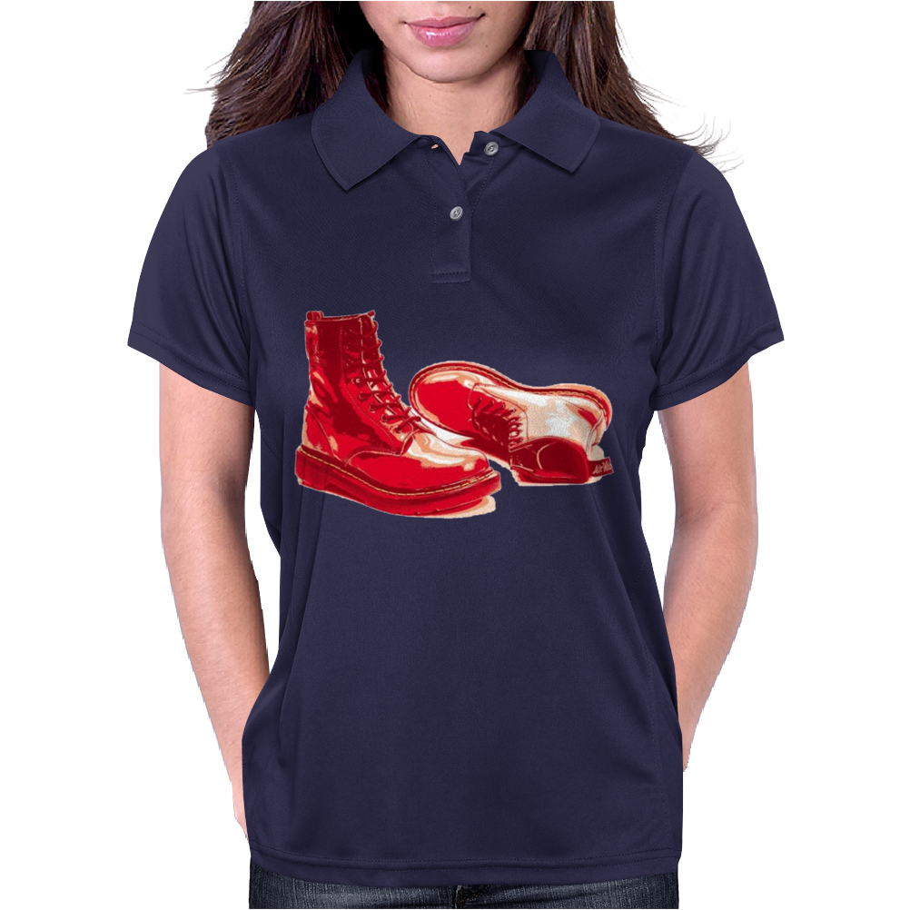 Red Skinhead Bovver Boots Ideal Birthday Gift or Present Womens Polo