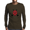 Red Skull Arrow Head Mens Long Sleeve T-Shirt