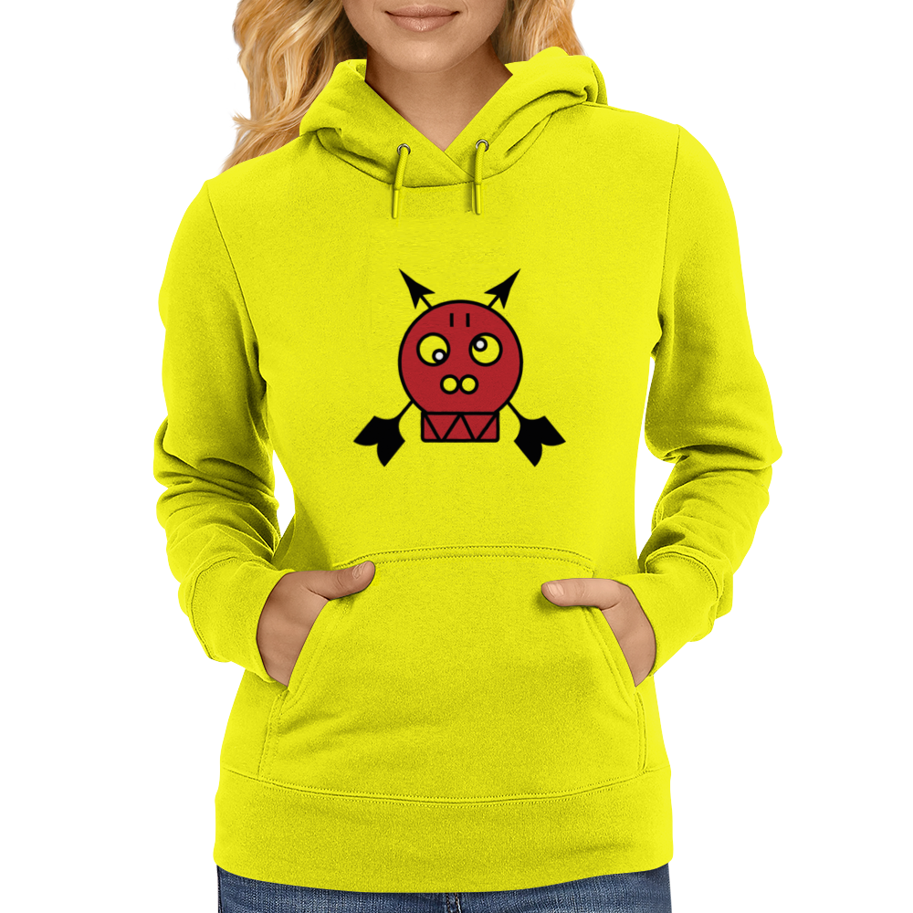 Red Skull Arrow Head Womens Hoodie