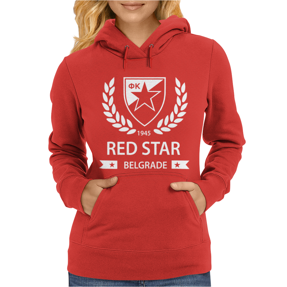 Red Star Belgrade Serbia Socer Womens Hoodie