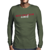 Red Tractor Girl Case IH Farm Mens Long Sleeve T-Shirt