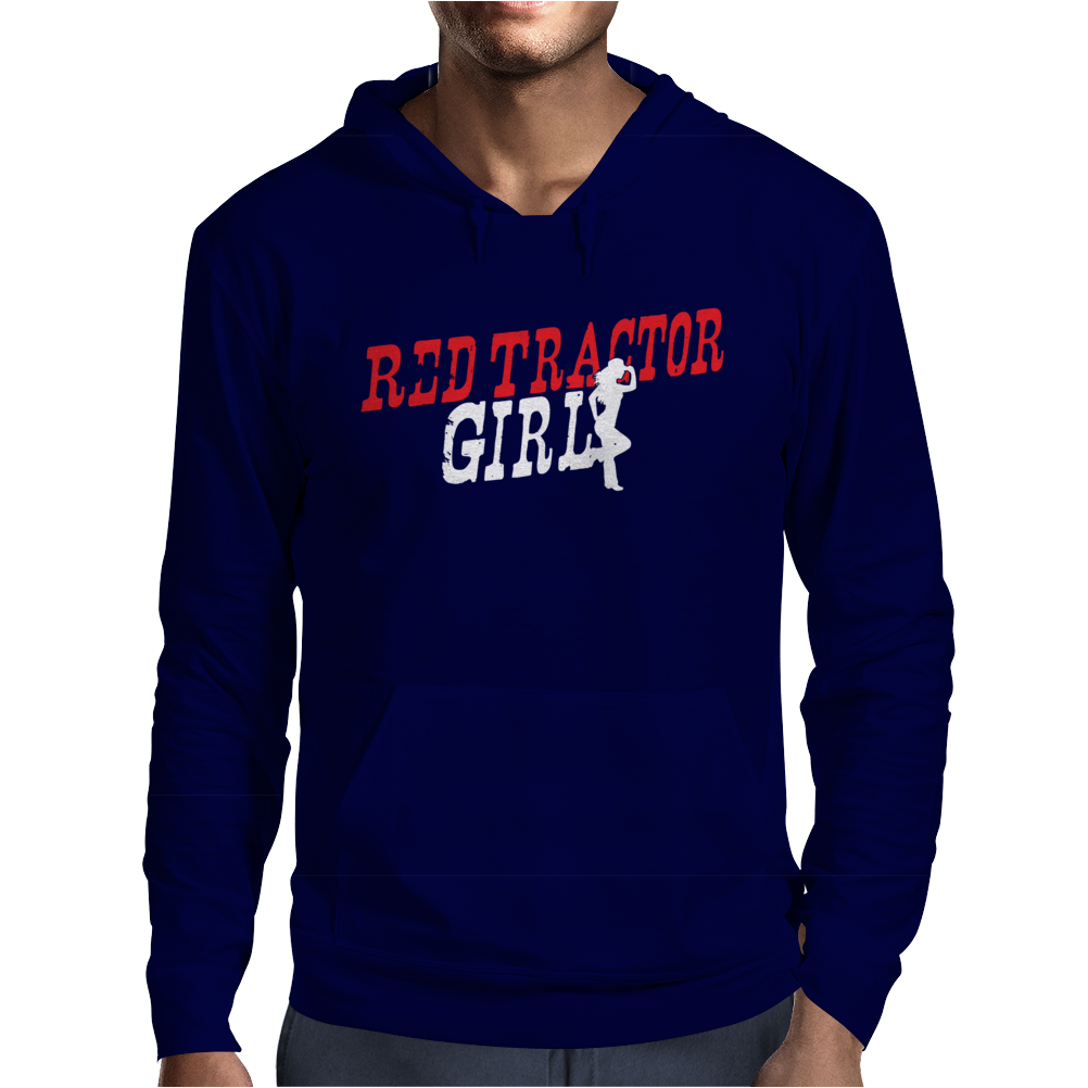 Red Tractor Girl Case IH Mens Hoodie