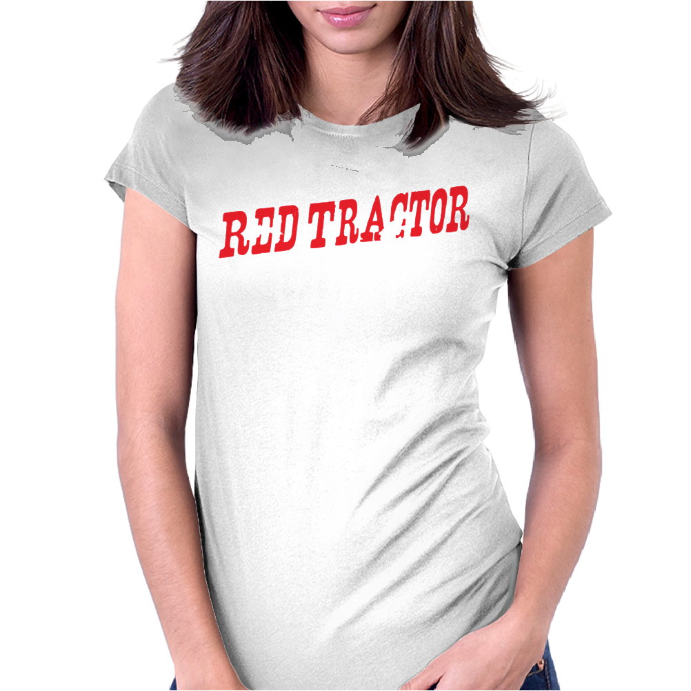 Red Tractor Girl Case IH Womens Fitted T-Shirt
