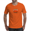 Red Van Gone Surfing  Hippie Split Window Transporter & Surfboard Mens T-Shirt