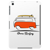 Red Van Gone Surfing  Hippie Split Window Transporter & Surfboard Tablet