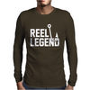 Reel Legend Funny Lure Father's Day Country Fishing Bass Humor Mens Long Sleeve T-Shirt