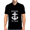 Refuse To Sink Boat Funny Mens Polo