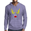 Reindeer Face Novelty Christmas Mens Hoodie