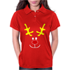 Reindeer Face Novelty Christmas Womens Polo